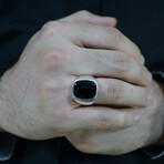 Simple Black Onyx Ring (6.5)