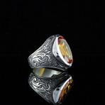 Classy Champagne Topaz Ring (7)