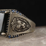 Lion + Blue Amber Ring (6)