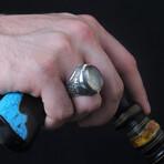 Natural Rutilated Quartz Ring (9.5)