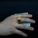 Stylish Matte Gold Ring (6.5)