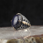 Lapis Lazuli + Sapphire Ring (6)
