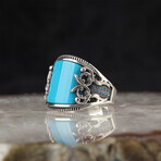 Curved Turquoise Ring (6.5)