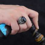Scorpion + Black Onyx Ring (10)