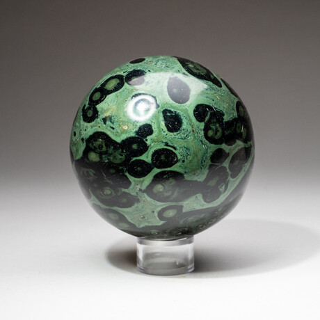 Genuine Polished Kambaba Jasper Sphere + Acrylic Display Stand