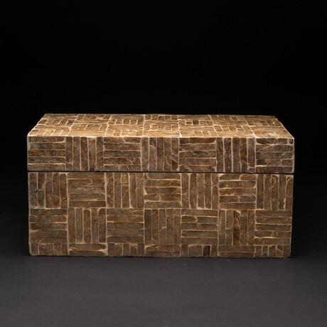 Genuine Polished Mother of Pearl Keepsake Box