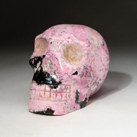 Genuine Hand Carved Pink Rhodonite Skull