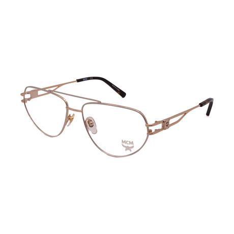 MCM // Men's MCM2129-715 Oval Optical Frames // Gold