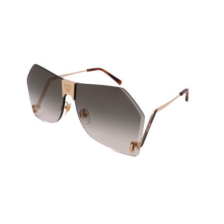 MCM // Unisex 135S-748 Sunglasses // Gold + Green
