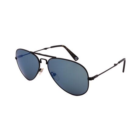 MCM // Men's 101S-2 Sunglasses // Matte Black + Blue