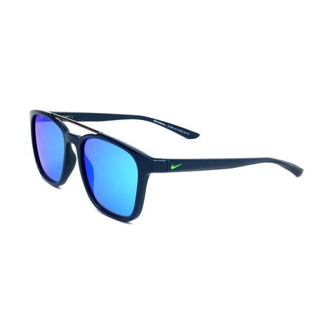 Nike // Unisex Windfall Sunglasses // Space Blue + Blue Mirror