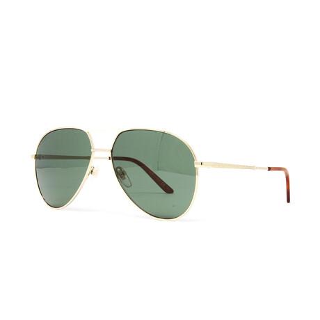 Men's GG0242S Sunglasses // Gold + Green
