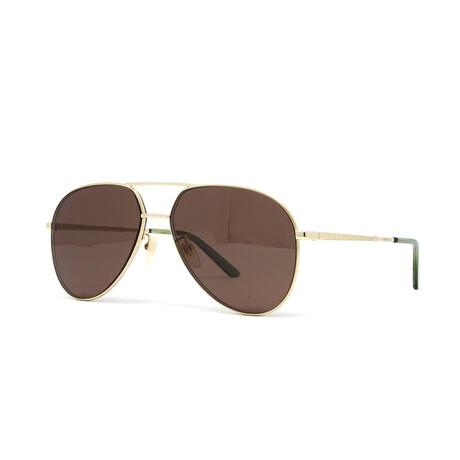 Unisex GG0356S Sunglasses // Gold + Brown