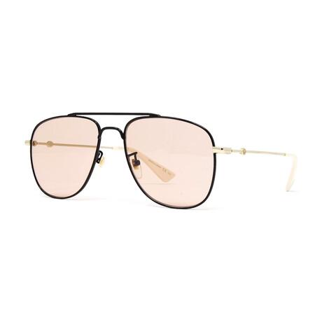 Men's GG0514S Sunglasses // Black + Gold + Pink