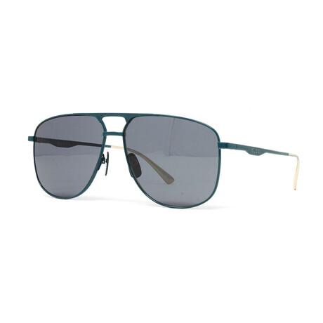 Men's GG0336S Sunglasses // Green + Gray