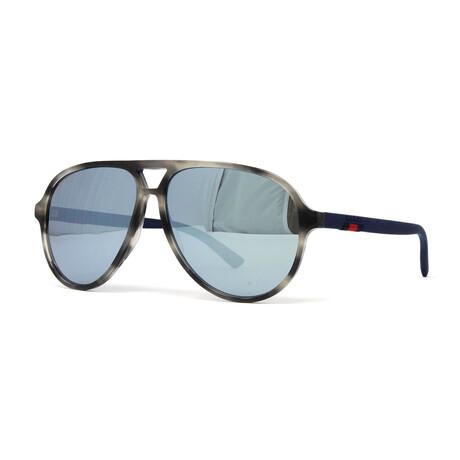 Men's GG0423S Sunglasses // Havana Blue + Gray