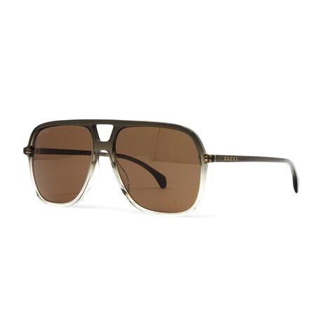 Men's GG0545S Sunglasses // Gray Gradient + Green