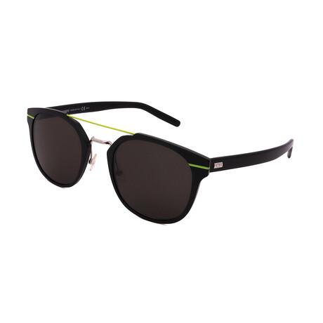 Men's AL-13.5-GR2 Pilot Sunglasses // Black + Green