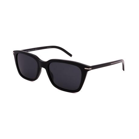 Men's BLACK-TIE-266S-807 Rectangle Sunglasses // Black