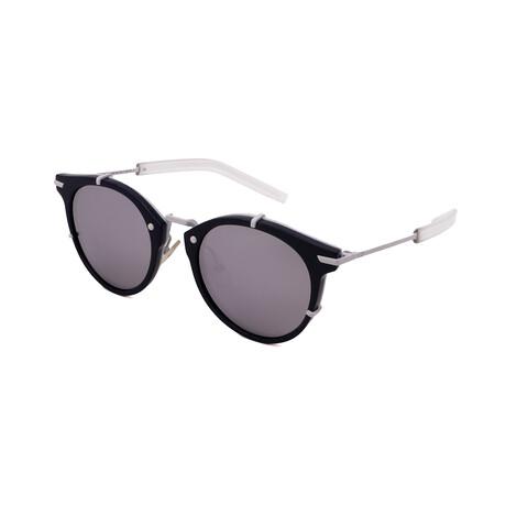Unisex DIOR-196S-MZL Round Sunglasses // Bule + Matte White