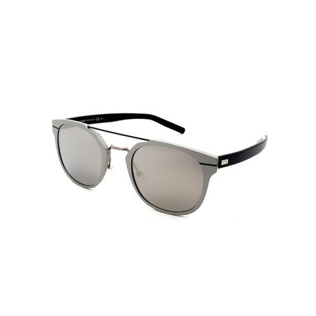 Men's AL-13.5-UFO Pilot Sunglasses // Black + Silver