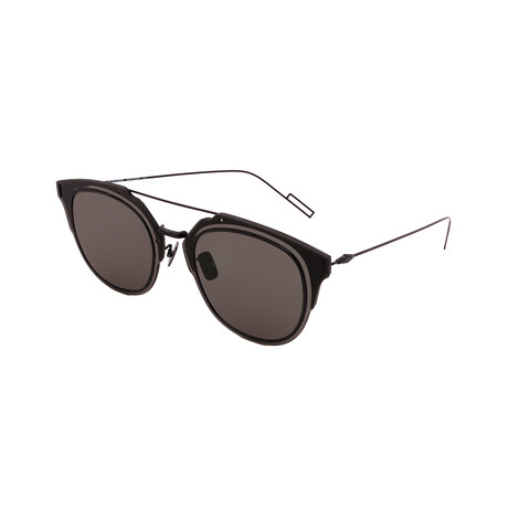 Men's DIOR-COMPOSIT 1.F Round Sunglasses // Black