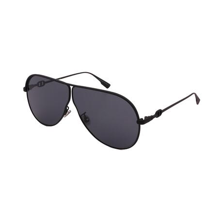 Unisex DIOR-CAMP Square Matte Sunglasses // Matte Black + Gray