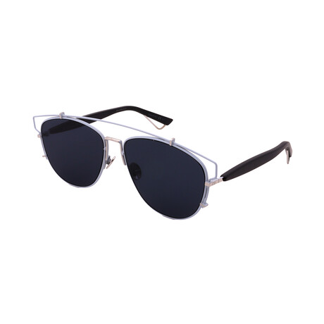 Men's TECHNOLOGIC-PQX Square Sunglasses // Light Blue + Silver + Black