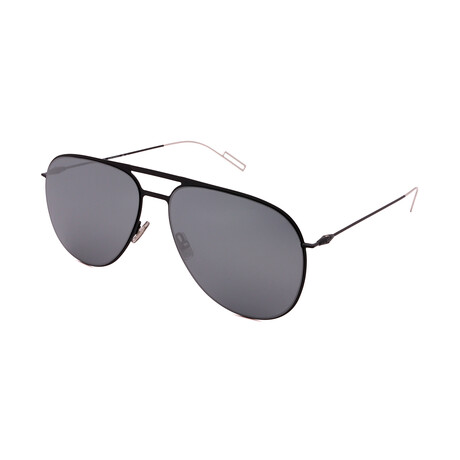 Men's DIOR-205FS-6 Aviator Sunglasses // Black + Silver