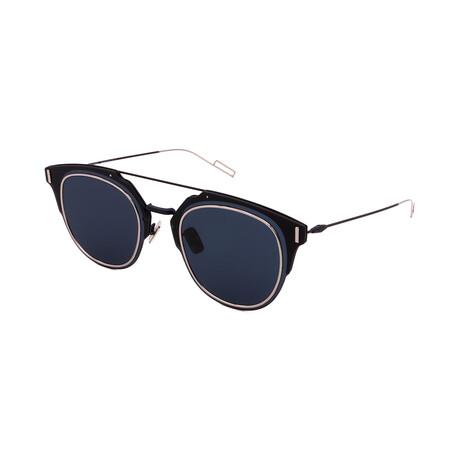 Unisex DIOR-COMPOSIT Square Sunglasses // Palladium