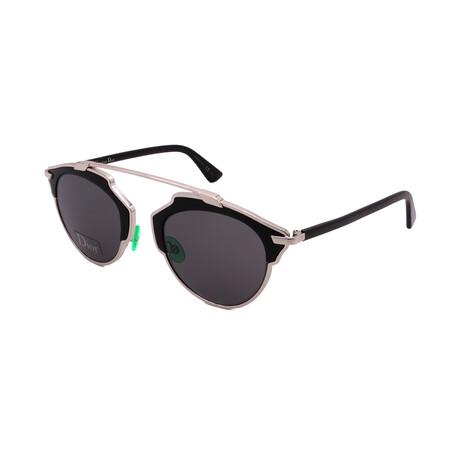 Unisex SO-REAL-B1A Round Sunglasses // Palladium Black