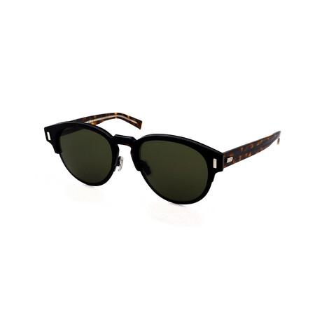 Unisex BLACK-TIE-2.0S Round Sunglasses // Havana + Brown