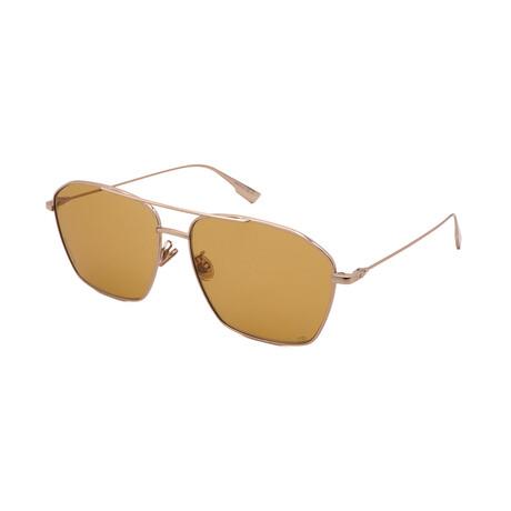 Unisex STELLAIRE-14-F-J5G Square Sunglasses // Gold