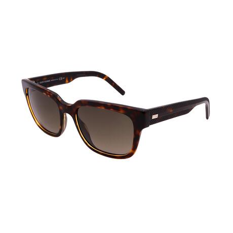 Men's BLACK-TIE-187S-98B Square Sunglasses // Havana Crystal + Dark Havana