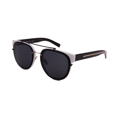 Men's BLACK-TIE-143SA-02S Aviator Sunglasses // Silver + Black