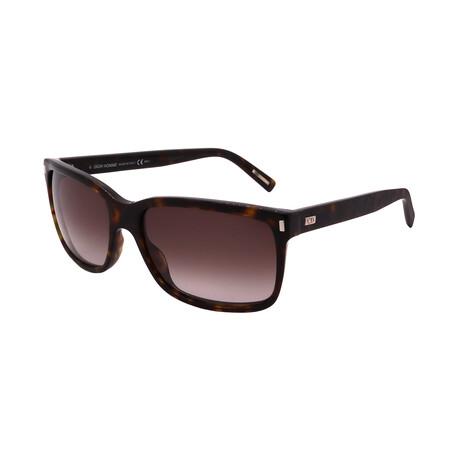 Unisex BLACK-TIE-155-S-86 Rectangle Sunglasses // Dark Havana