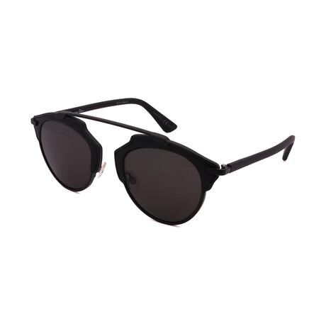 Unisex SO-REAL-RLS Round Sunglasses // Black