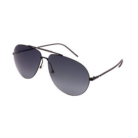 Unisex DIOR-0195S-J29 Pilot Sunglasses // Black + Dark Gray