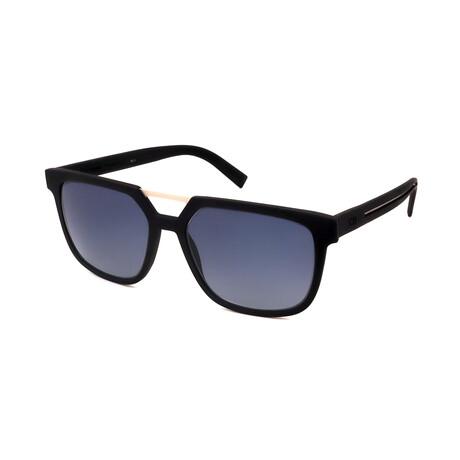 Men's DIOR-200S-UI9 Square Sunglasses // Rubber Black + Gray Gradiant