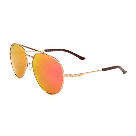 Smith // Men's Westgate Sunglasses // Gold Copper