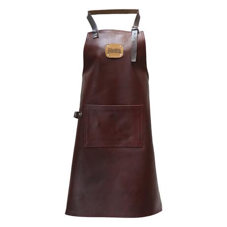 Supreme 100% Leather Apron // Chestnut