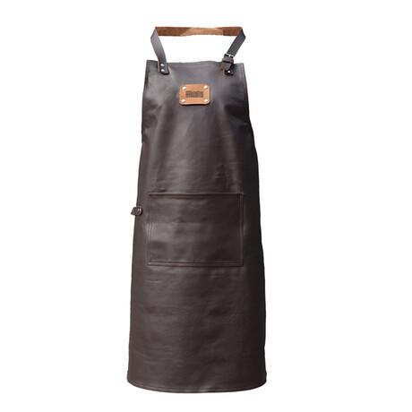 Supreme 100% Leather Apron // Vintage Brown