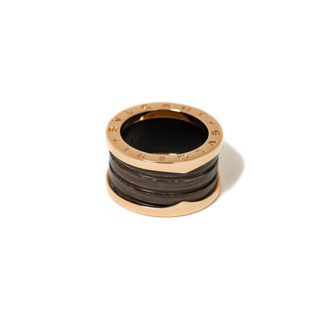 18k Rose Gold + Marble B.Zero 1 Ring // Ring Size: 6 // New