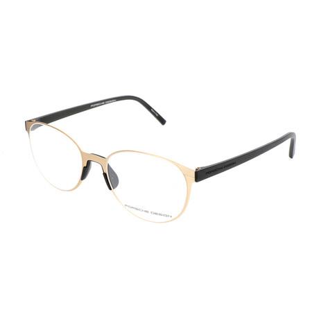Porsche Design // Unisex P8312 Optical Frames // Light Gold + Black