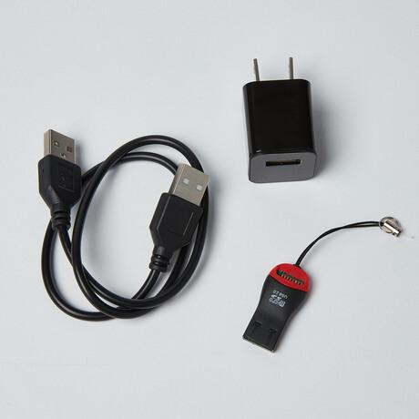 USB Charger Camera + Micro SD Reader + 32GB Internal Memory