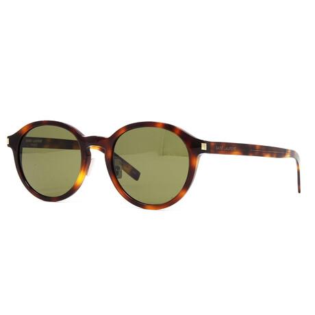 Yves Saint Laurent // Men's SL169F Slim Sunglasses V1 // Havana