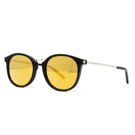 Yves Saint Laurent // Men's SL130 Combi Sunglasses // Black + Silver