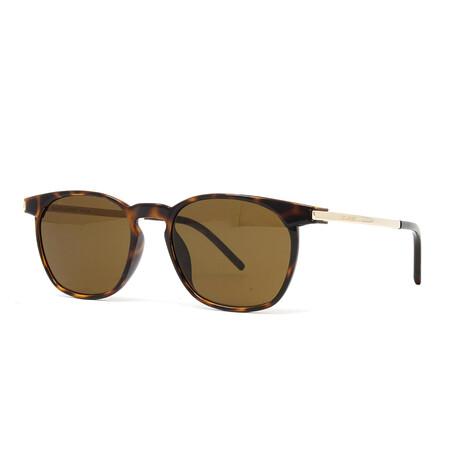 Yves Saint Laurent // Men's SL240 Sunglasses // Havana + Gold