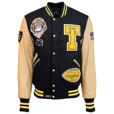 Top Dog Varsity Jacket // Navy (XS)