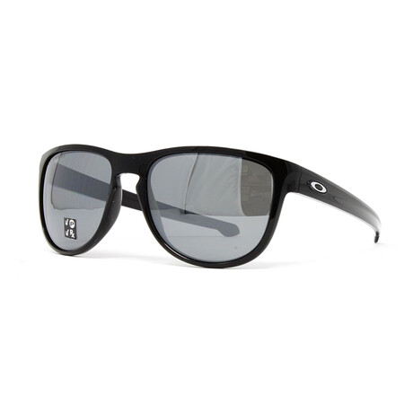Oakley // Men's Silver R OO9342 Sunglasses // Polished Black